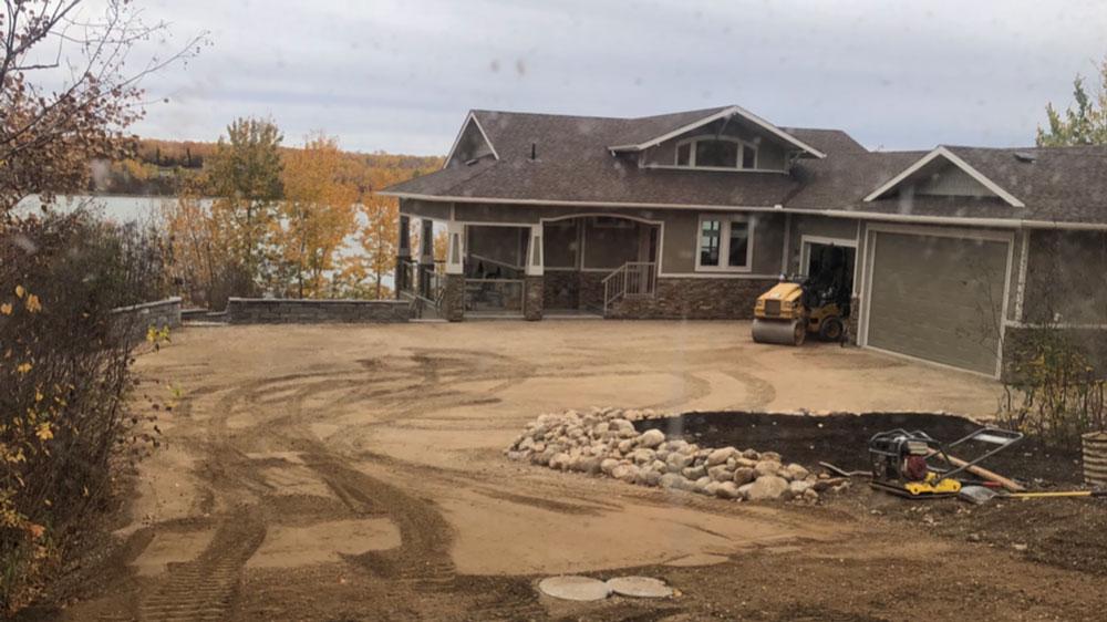 residential paving before